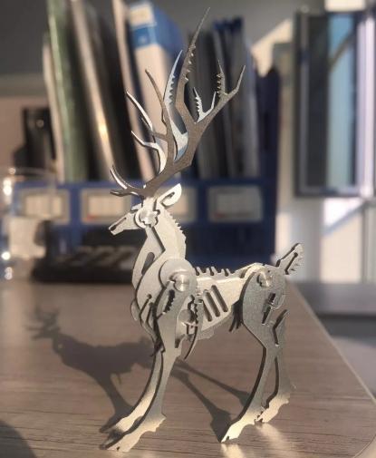激光切割不锈钢麋鹿